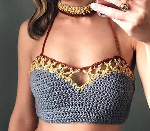 The Love Bralette Crochet PATTERN