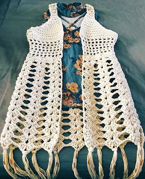 The Boho Lace Vest Crochet Pattern