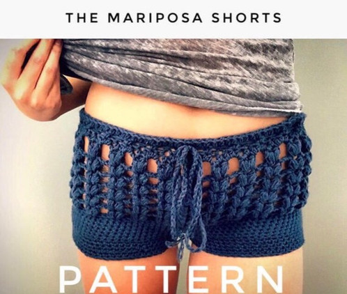 The Mariposa Shorts Crochet Pattern