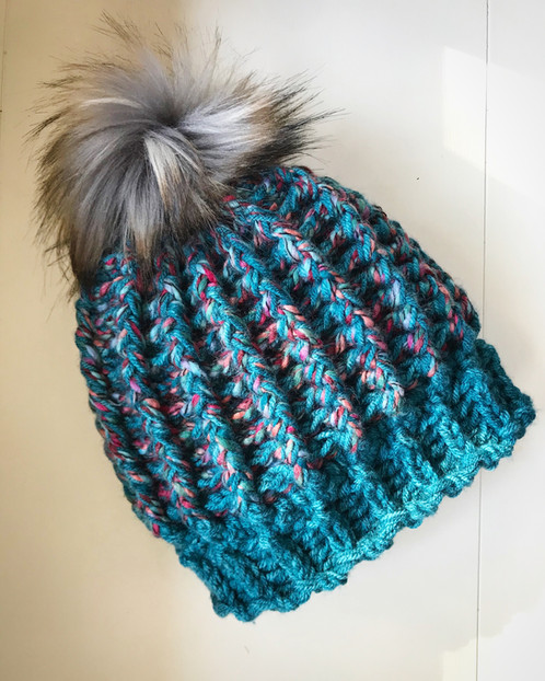 The Spectrum Ripple Beanie Crochet Pattern