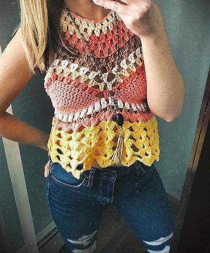 The Flirty Flair Crochet Top PATTERN