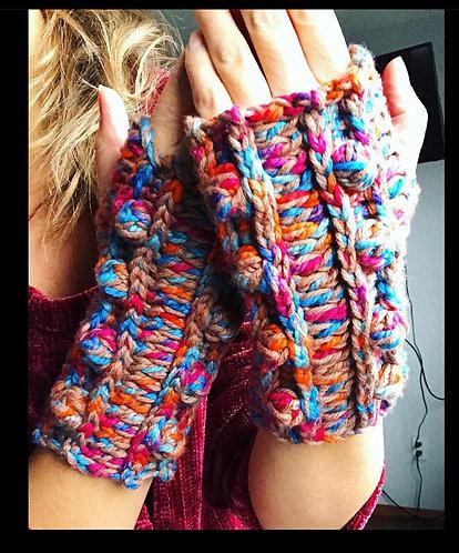 The Bobble Love Fingerless Gloves CROCHET PATTERN
