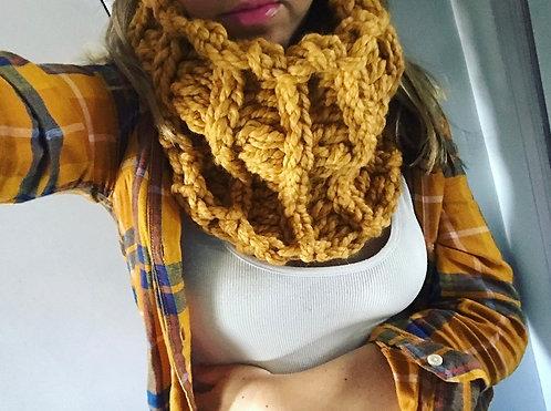 The Chunky Chain Cozy Cowl Crochet PATTERN