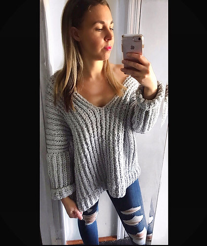 The Lazy Dayz Sweater CROCHET PATTERN