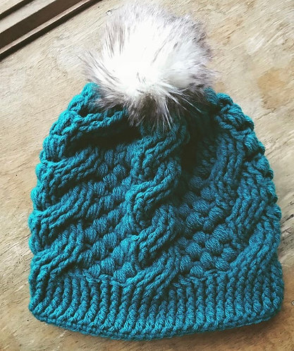 The Cobblestone Paths Beanie Crochet PATTERN