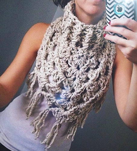 The Oversized Kerchief Crochet Scarf PATTERN