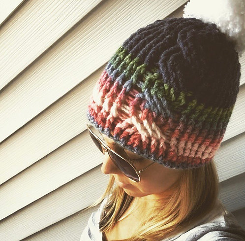 The It's Crochet Not Knit Cable Beanie PATTERN