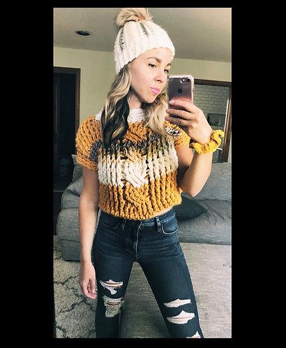 The Oversized Braid Sweater Crochet PATTERN