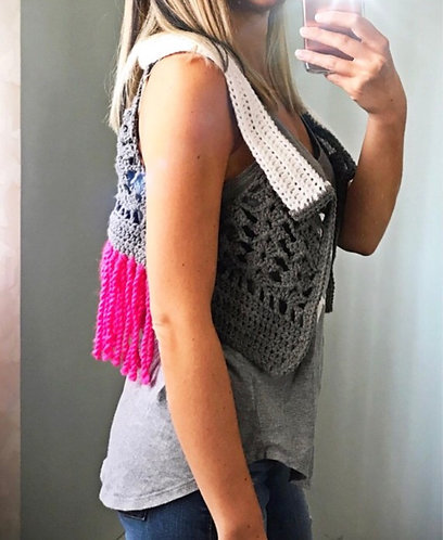 The Heather Vest Crochet PATTERN