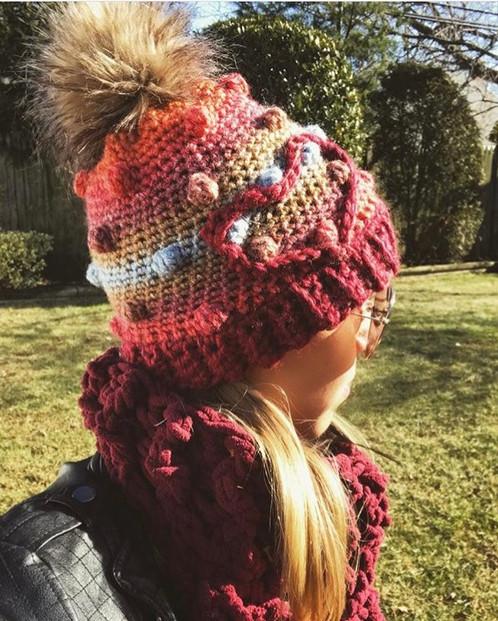 You Make My Heart Bobble Crochet Beanie Pattern