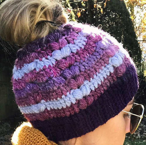 The Forever Messy Bun Beanie Crochet PATTERN