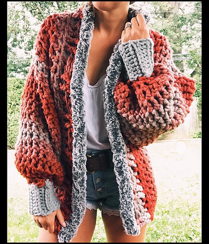 The Autumn Snug Cardi CROCHET PATTERN
