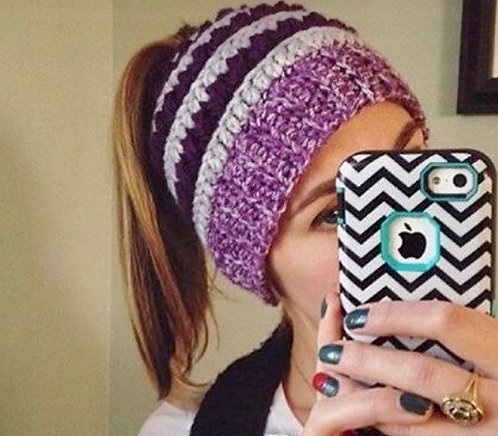 The Top Knot Sass Ponytail Beanie CROCHET PATTERN