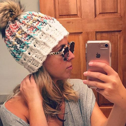 The Spectrum Ripple Beanie Crochet PATTERN