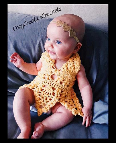 Crochet Baby Dress *Fits 6-12 Months*