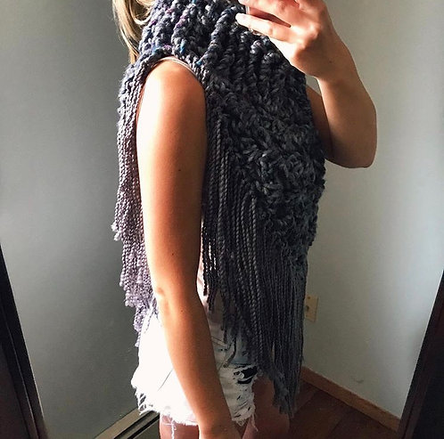 The Oversized Bandana Poncho Crochet PATTERN