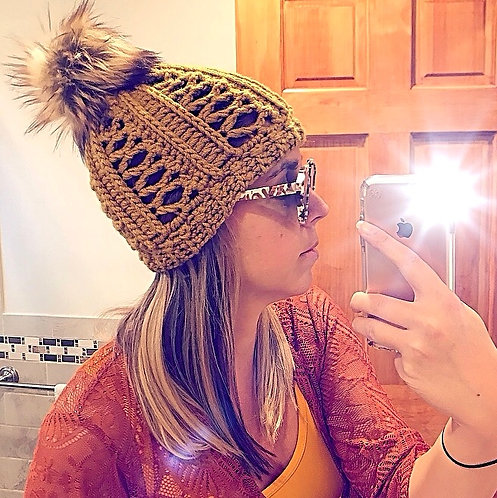 The Love Me Some Lace Crochet Beanie PATTERN