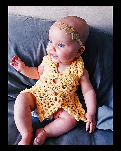 The Angelic Beauty Baby Dress CROCHET PATTERN