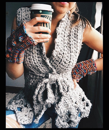 The Wrapster Vest CROCHET PATTERN