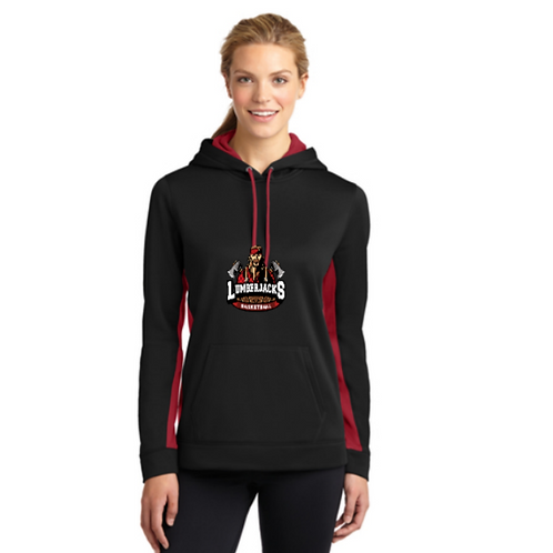 LST235 Sport-Tek® Ladies Sport-Wick® Fleece Colorblock Hoodie