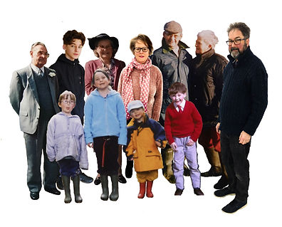 both nan and grandads, meg me, charlie,