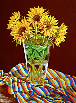 Stripped Sunflowers