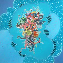 Floating Octopus Blue