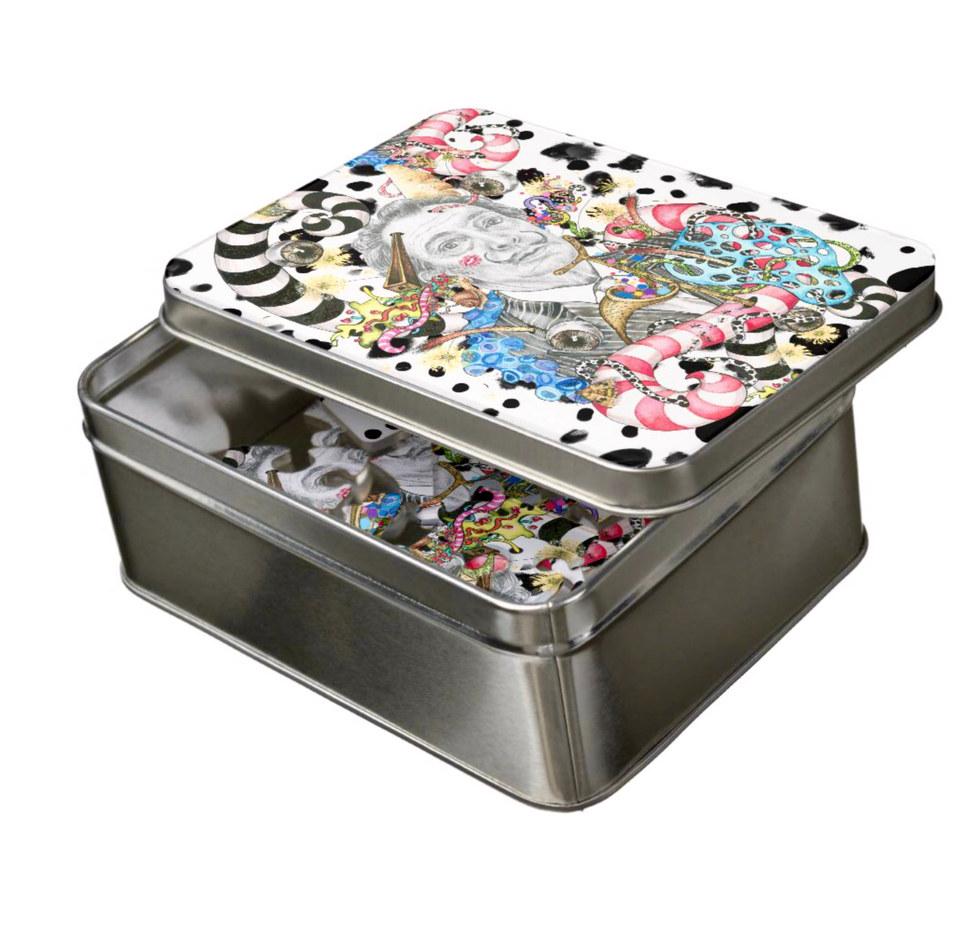 Puzzle in tin
