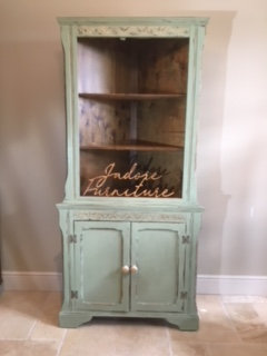 Corner Dresser - Green and Gold