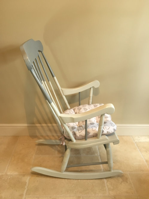 Adult Rocking Chair - Grey / Cushion Included