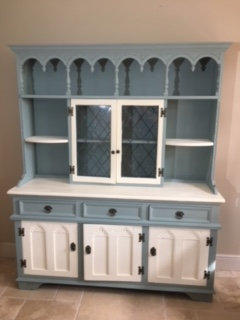 Double Dresser - Teal and Cream
