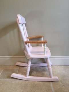 Child's Rocking Chair - Pink and Cream