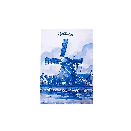 Delfts Blauw Molen Theedoek
