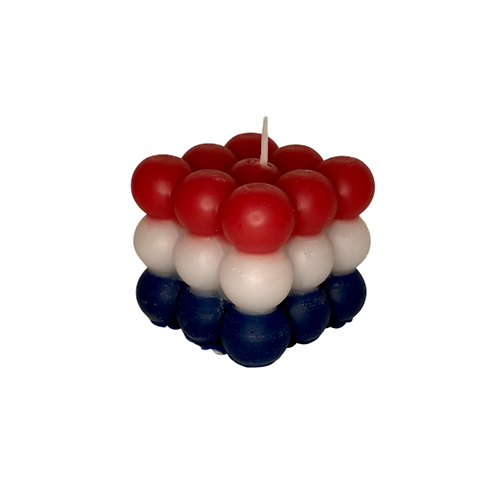 Bubble Candle   Rood, Wit & Blauw