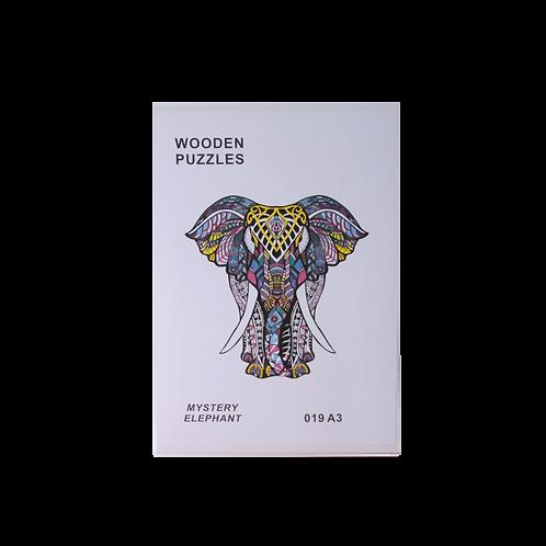 A3 Dierenpuzzel   Mystery Elephant #019