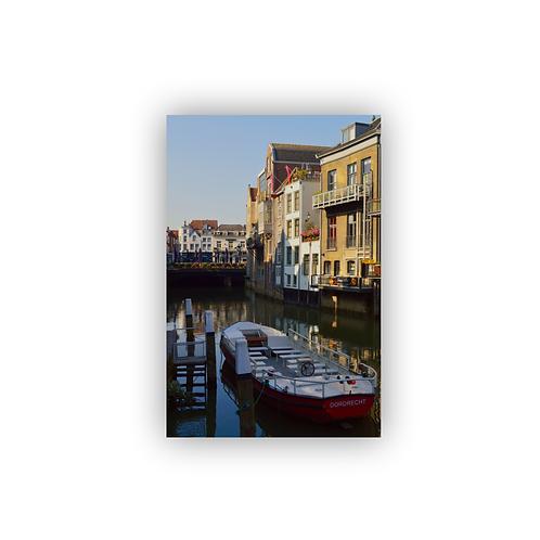 Ansichtkaart Dordrecht, Grachten