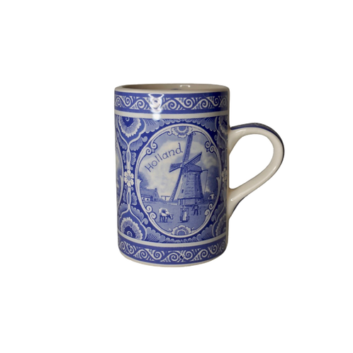 Delfts Blauwe Mok (Porselein) | Hollandse Molen
