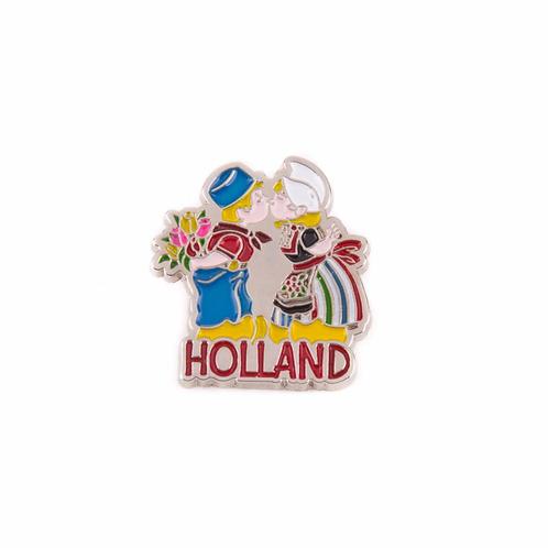 Holland Kussend Paar Pin