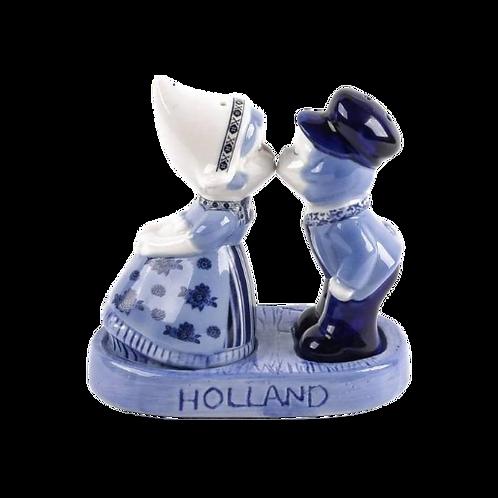 Zout en Peper set: Delfts Blauw Kussend Paar