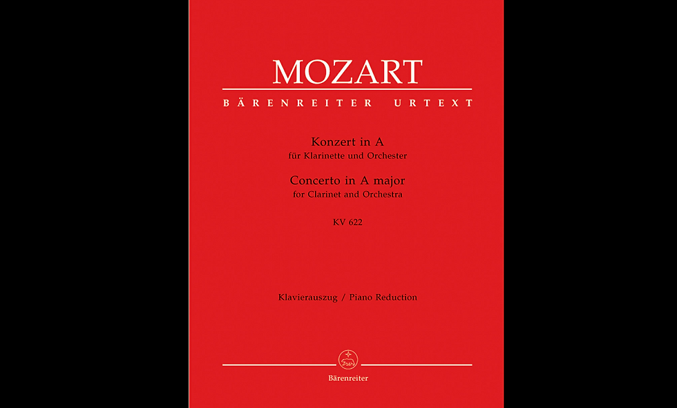 Concerto for Clarinet and Orchestra A major, KV 622 MOZART