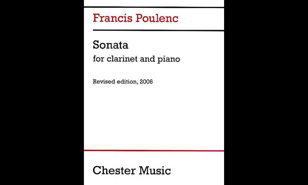 Clarinet Sonata POULENC