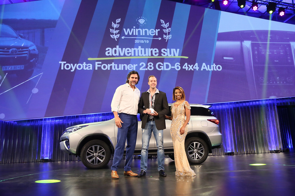 Toyota Fortuner wins Adventure SUV category at cars.co.za