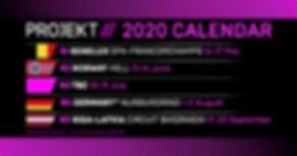 Project E 2020 calendar