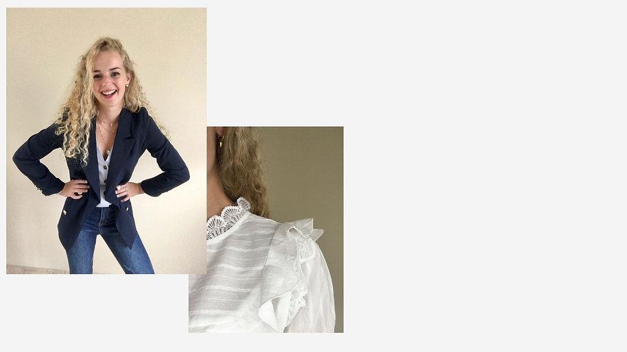 White and Black Minimalist Modelling Por
