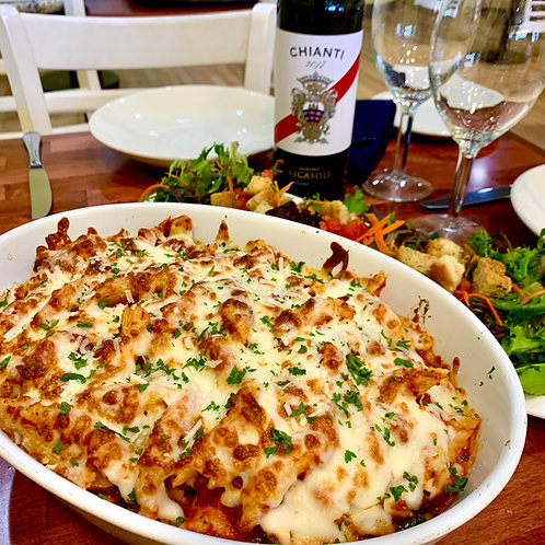 Family Meal for 4 or 6: Baked Ziti with Sausage