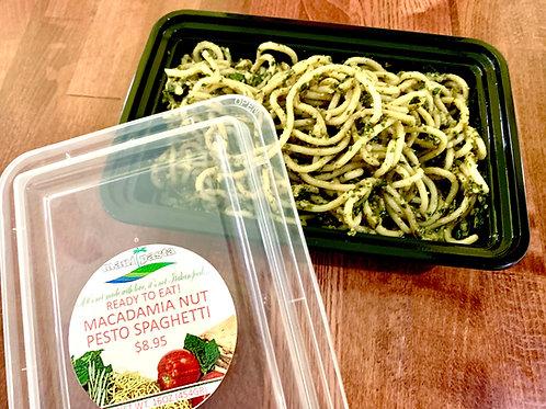 Macadamia Nut Pesto Spaghetti
