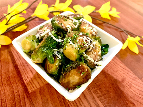 Garlic Parmesan Brussels Sprouts