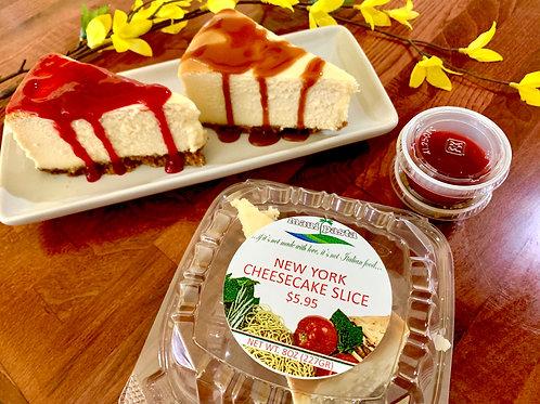 Slice of Classic Cheesecake
