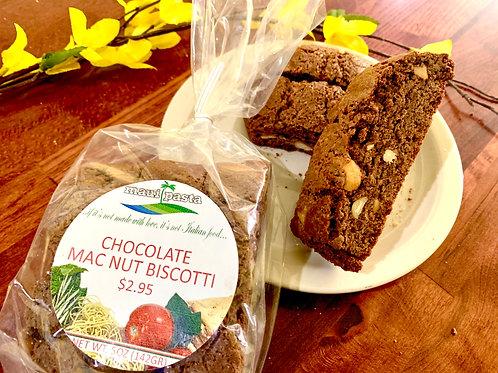 Chocolate Macadamia Nut Biscotti