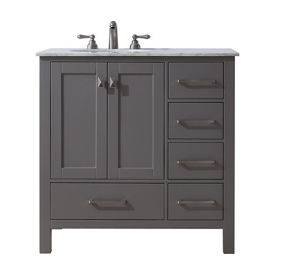 "36"" Malibu Grey Single Sink Vanity"